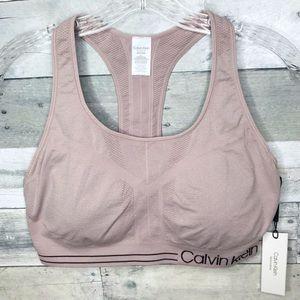 Calvin Klein Shimmery pink Sports bra XXL NWT